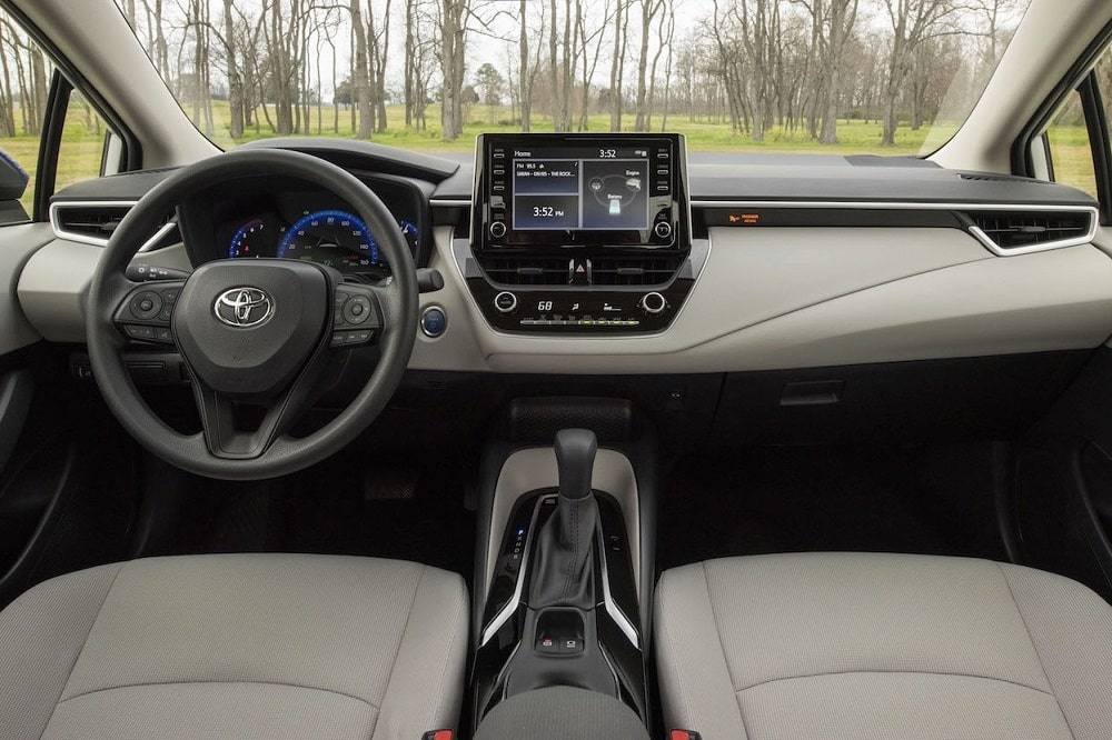 2020 Toyota Corolla Hybrid LE Interior - front seats