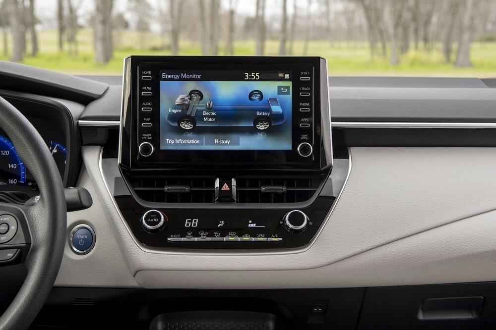 2020 Toyota Corolla Hybrid LE Display
