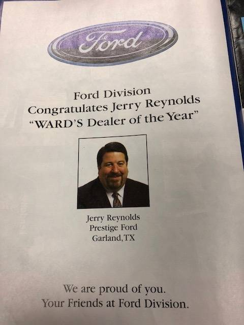 Jerry Reynolds WARD's Dealer of the Year