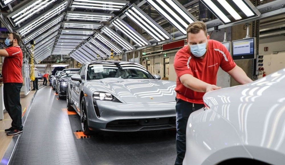 Porsche production workers
