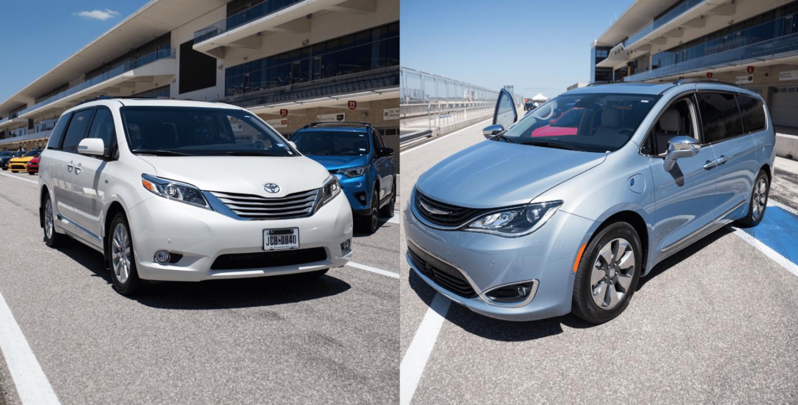 Minivan Drive: Toyota Sienna vs Chrysler Pacifica Hybrid