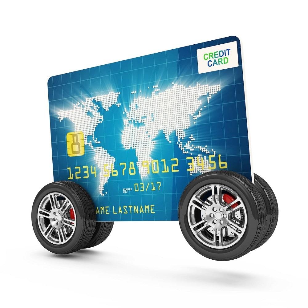 Credit card on wheels