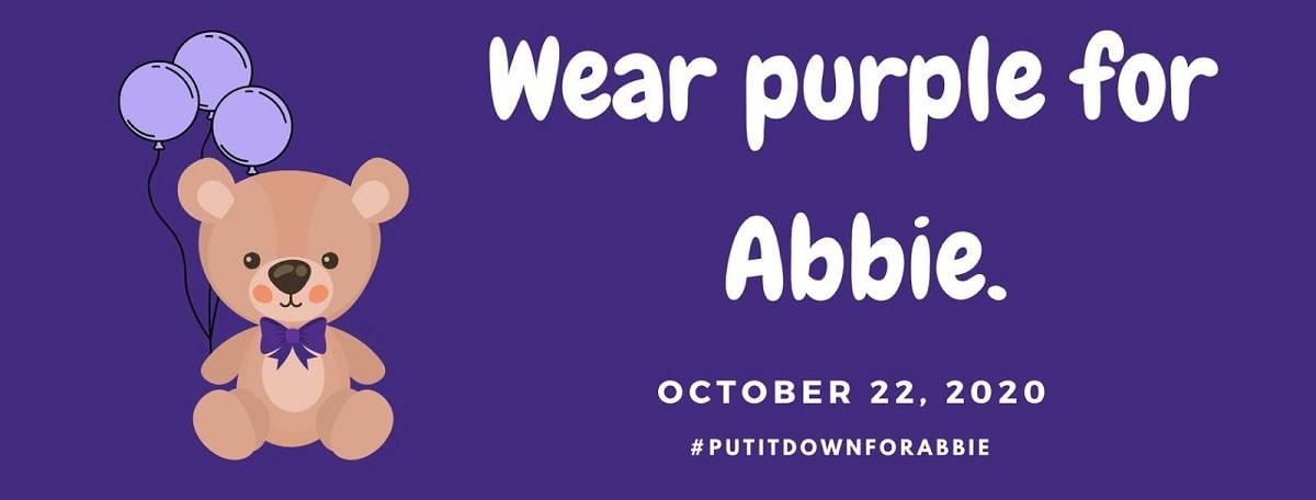wear purple for Abbie