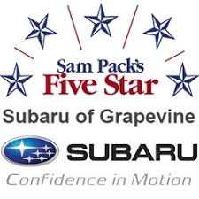 Sam Packs 5 Star Subaru of Grapevine Logo