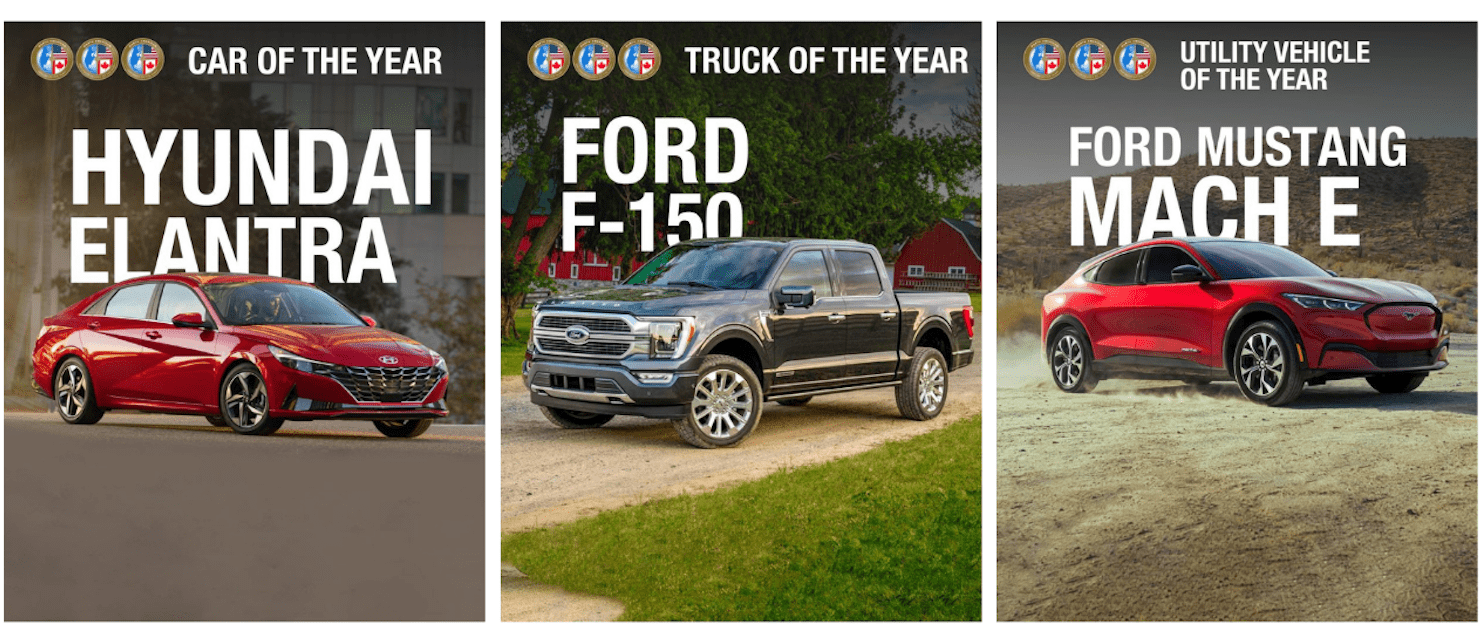 Car of the year, Truck of the year, UV of the year