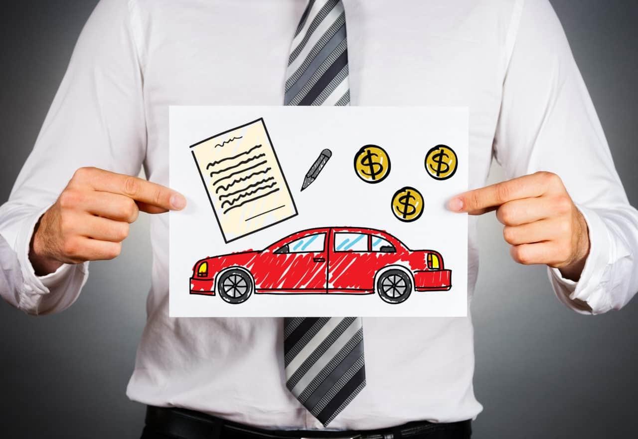 Car trade-in illustration