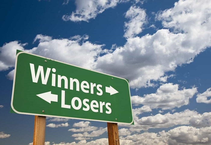 Winners & Losers street sign